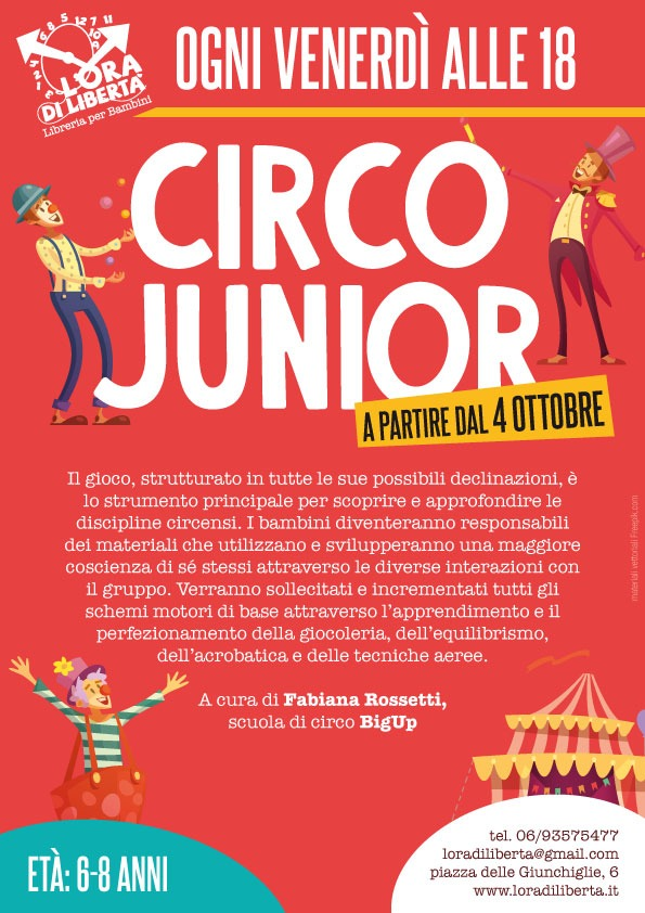 Corso di circo per bambini